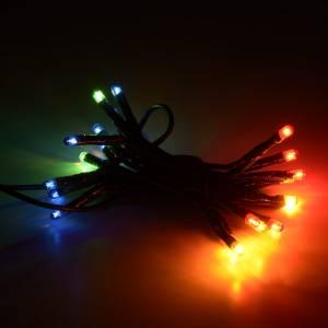 Guirlandes lumineuses de Noël: Guirlande lumineuse de noel 20 ampoules multicolore
