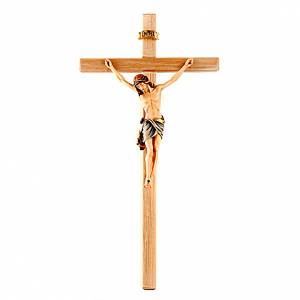 Wooden crucifixes: Hand-painted crucifix