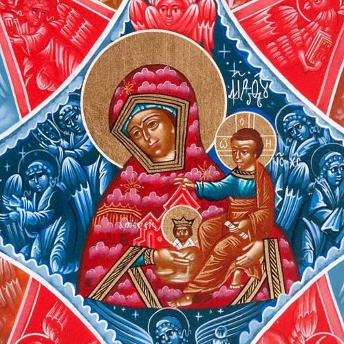 Hand-painted Russian icon, Burning Thornbush 22x27cm s3