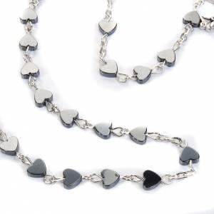 Hematite heart-shaped beads rosary s3
