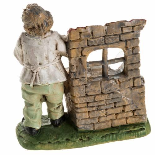 Herrero 10 cm. resina estatua belén s4