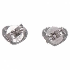 Anhänger, Kreuze, Broschen: Herz Ohrringe AMEN Silber 925 und Zirkonen