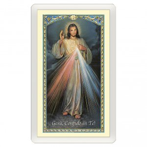 Holy cards: Holy card, Divine Mercy of Jesus, Chaplet of the Divine Mercy ITA 10x5 cm