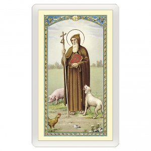 Holy cards: Holy card, Saint Anthony the Abbot, prayer to Saint Anthony ITA 10x5 cm