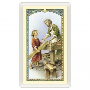 Holy cards: Holy card, Saint Joseph, Prayer for Employment ITA, 10x5 cm