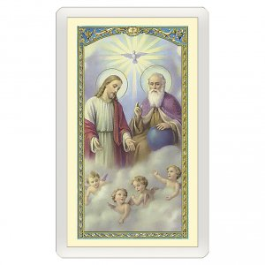Holy cards: Holy card, Trinity, Prayer to the Holy Trinity ITA 10x5 cm