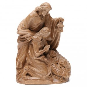 Holy Family group statue in Valgardena wood, patinated finish s1