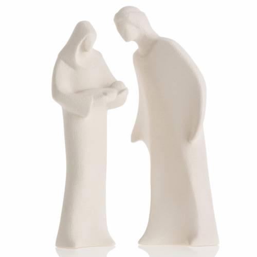 Holy Family in clay, Centro Ceramiche Ave 28cm s1