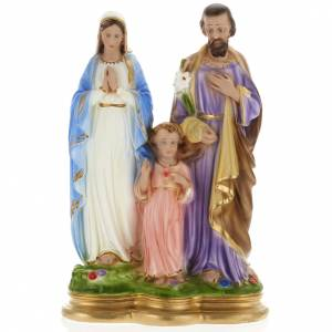 Holy Family statue in plaster, 40 cm s1