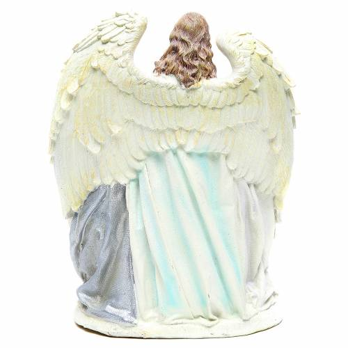 Holy family with angel measuring 31cm, in resin with White finish s3