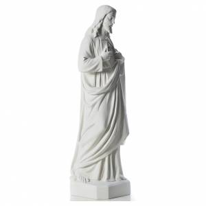 Holy Heart of Jesus, 130 cm Reconstituted Carrara Marble statue s4