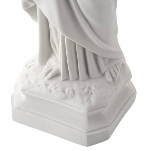 Holy Heart of Jesus, 50 cm Reconstituted Carrara Marble Statue s5