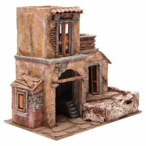 House with hut nativity 35x38x25cm s3