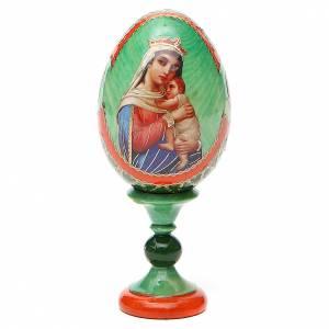 Huevos rusos pintados: Huevo ruso de madera découpage Esperanza de los Desesperanzados altura total 13 cm estilo Fabergé