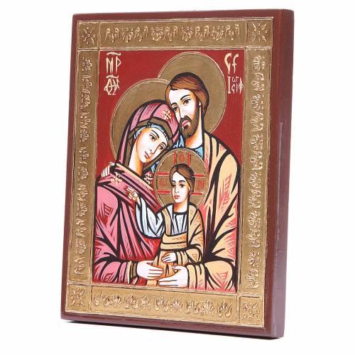 Icona Sacra Famiglia greca rilievo s2