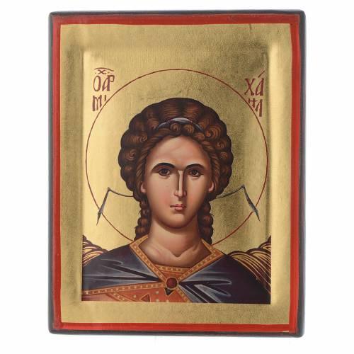 Icona Grecia serigrafata Angelo Gabriele 20x16 cm s1