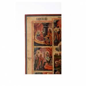 Icona le 12 feste antica Russa 54x37 cm s3