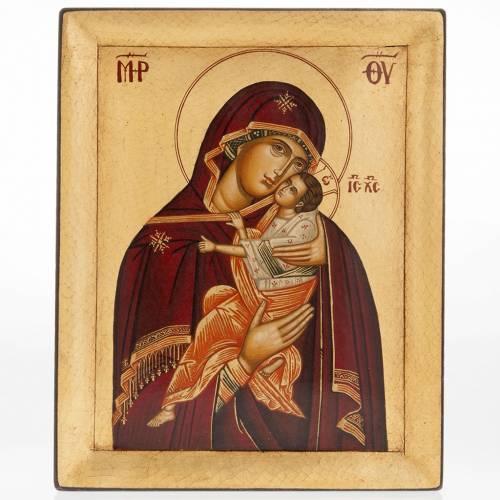 Icona Madre di Dio della Tenerezza dipinta Grecia s1