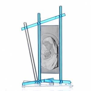 Bomboniere e ricordini: Icona Nascita vetro Murano Celeste 24x15 cm