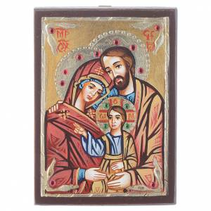 Icone Romania dipinte: Icona Romania dipinta Sacra Famiglia