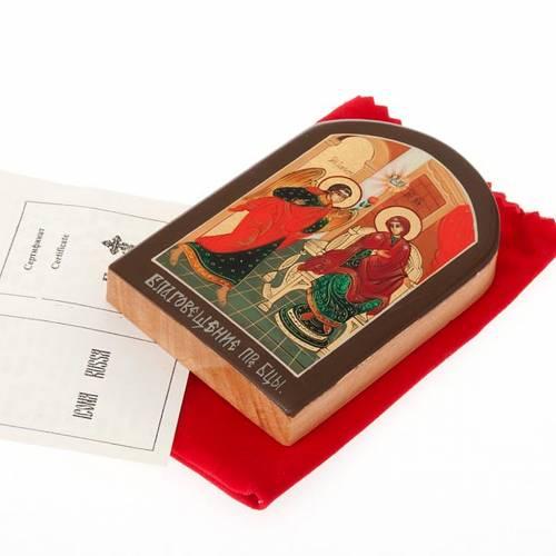 Icona russa Annunciazione 6x9 cm 2