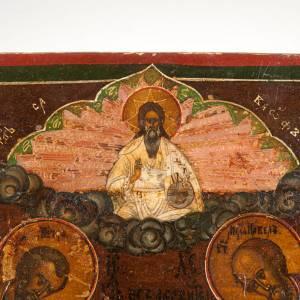 Icona antica Cristo  con la Deesis (supplica) s7
