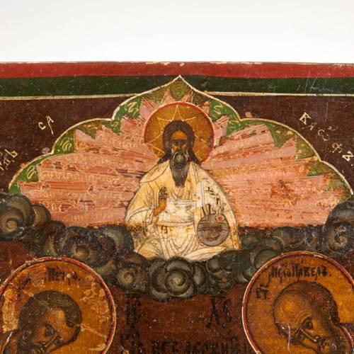 Icona antica Cristo  con la Deesis (supplica) 7