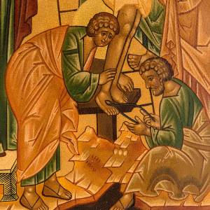 Icona russa Deposizione della croce 22x27 cm s2