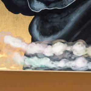 Icona russa dipinta Pantocratore benedicente s5