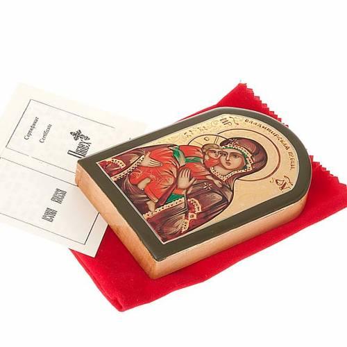 Icona russa Vergine di Vladimir 6x9 cm 2