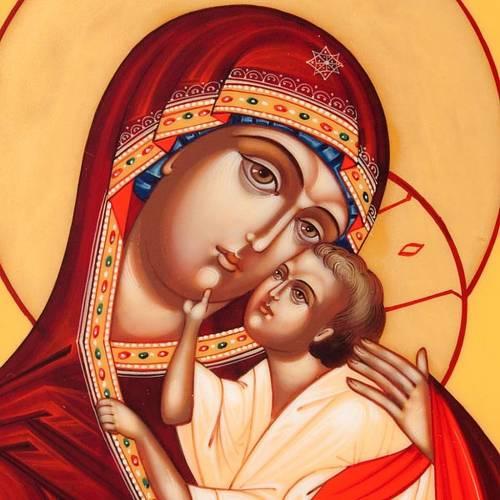 Icona russa Vergine di Yaroslavl 22x27 cm s4