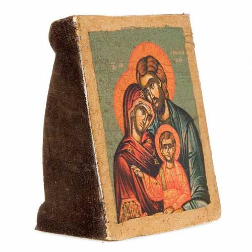 Icona Sacra Famiglia serigrafia sagomata s3