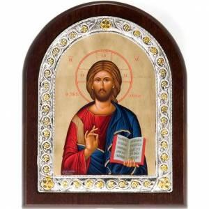Icona serigrafata argentato 925 Pantocratore s1