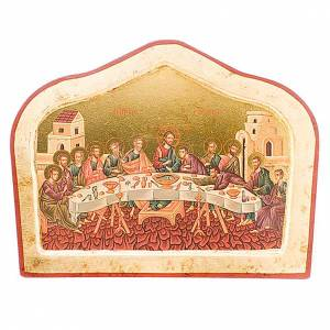 Icone Grecia dipinte e serigrafate: Icona greca Icona Ultima cena sagomata
