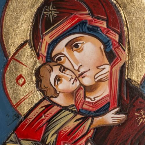 Icona Vergine di Vladimir cornice legno s2