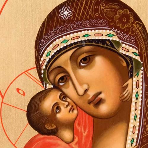 Icona Vergine di Vladimir Russia dipinta s2