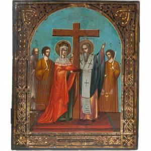 Icône ancienne, exaltation de la croix s1