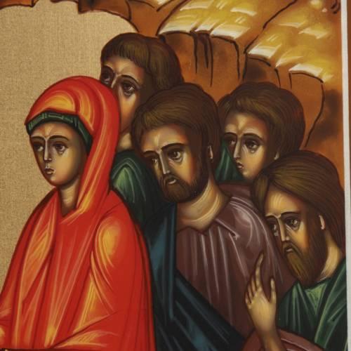 Icone Descente aux Enfers peinte à la main Russie 22x27cm s5