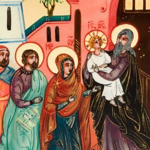 Icône russe,6x9 présentation de Jésus s3