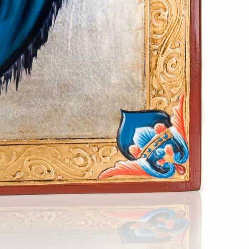 Icône vierge de Ferruzzi avec décors 40x60 cm s3