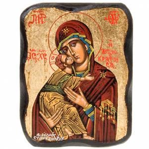 Griechische Ikonen: Ikone Gottesmutter von Wladimir 13x10cm
