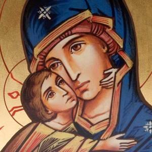 Holz, Stein gedruckte Ikonen: Ikone Jungfrau Vladimir der Zärtlichkeit Siebdruck