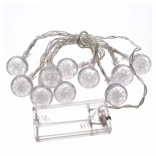 Illuminazione di Natale set 10 sfere led bianco caldo s3