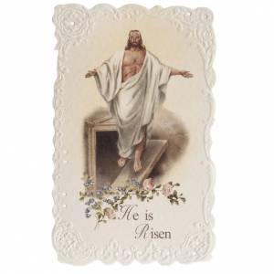 Image pieuse He is Risen avec prière ANGLAIS s1