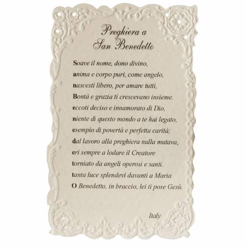 Image pieuse St Benoît avec prière s2