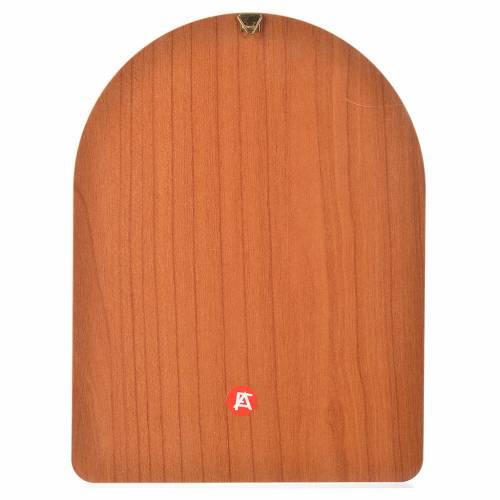 Impression sur bois 15x20 cm Sacré Coeur Marie s2