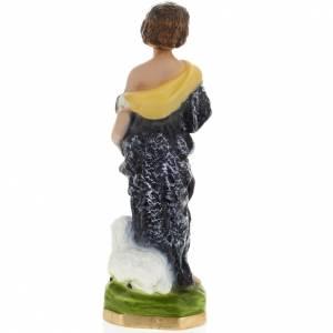Infant St John the Baptist statue in plaster, 30 cm s4