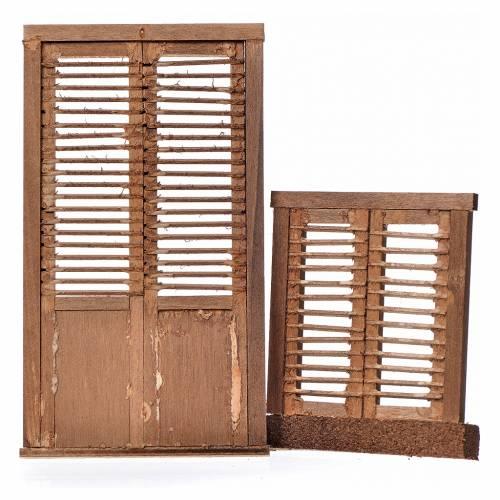 Infissi presepe 2 pz legno tipo veneziana 13,5x7,5 e 8x7 s2