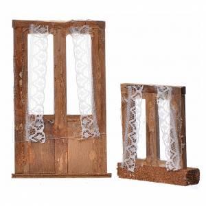 Infissi presepe legno 2 pz 11x7 e 7x6 s2