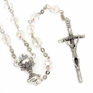 Iridescent glass rosary s1